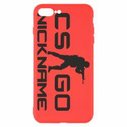 Чехол для iPhone 8 Plus Counter-Strike nickname