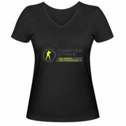 Жіноча футболка з V-подібним вирізом Counter Strike Offensive