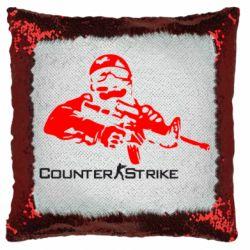Подушка-хамелеон Counter Strike Player