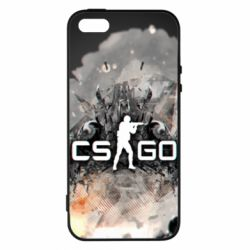 Купить Чехол для iPhone5/5S/SE Counter Strike white logo, FatLine