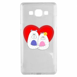 Чохол для Samsung A5 2015 Couple Bears