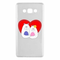 Чохол для Samsung A7 2015 Couple Bears