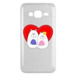 Чохол для Samsung J3 2016 Couple Bears
