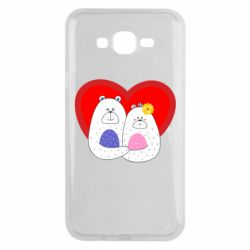 Чохол для Samsung J7 2015 Couple Bears