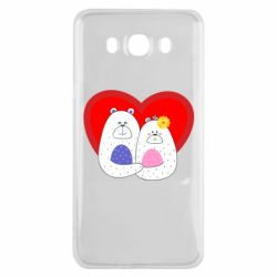 Чохол для Samsung J7 2016 Couple Bears