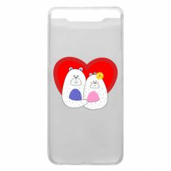 Чохол для Samsung A80 Couple Bears