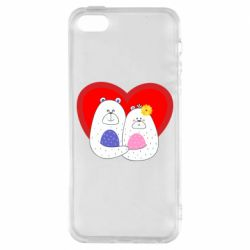 Чохол для iphone 5/5S/SE Couple Bears