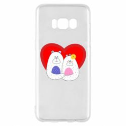Чохол для Samsung S8 Couple Bears
