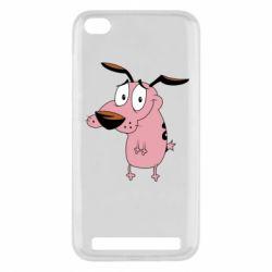 Чехол для Xiaomi Redmi 5a Courage - a cowardly dog - FatLine