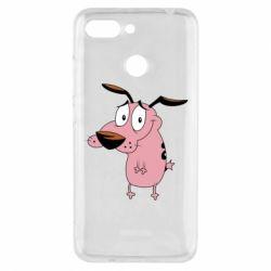 Чехол для Xiaomi Redmi 6 Courage - a cowardly dog - FatLine