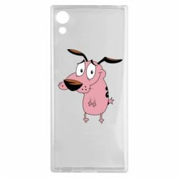 Чехол для Sony Xperia XA1 Courage - a cowardly dog - FatLine