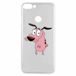 Чехол для Huawei P Smart Courage - a cowardly dog - FatLine