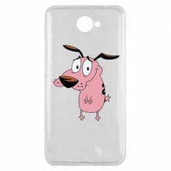 Чехол для Huawei Y7 2017 Courage - a cowardly dog - FatLine