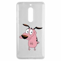 Чехол для Nokia 5 Courage - a cowardly dog - FatLine