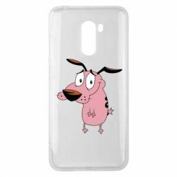 Чехол для Xiaomi Pocophone F1 Courage - a cowardly dog - FatLine