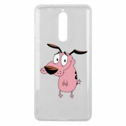 Чехол для Nokia 8 Courage - a cowardly dog - FatLine