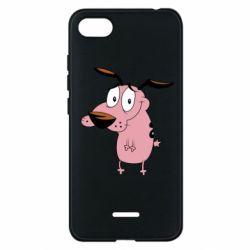 Чехол для Xiaomi Redmi 6A Courage - a cowardly dog - FatLine
