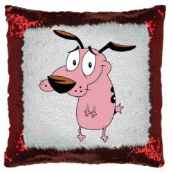 Подушка-хамелеон Courage - a cowardly dog