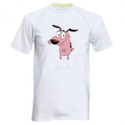 Мужская спортивная футболка Courage - a cowardly dog - FatLine