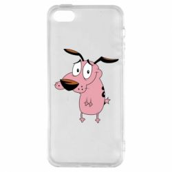Чохол для iphone 5/5S/SE Courage - a cowardly dog