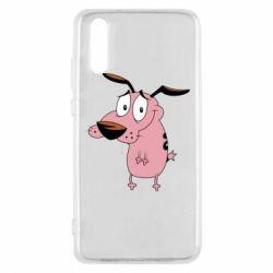 Чехол для Huawei P20 Courage - a cowardly dog - FatLine