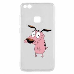 Чехол для Huawei P10 Lite Courage - a cowardly dog - FatLine