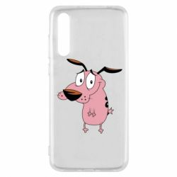 Чехол для Huawei P20 Pro Courage - a cowardly dog - FatLine
