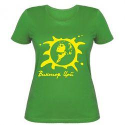 Женская футболка Цой Виктор - FatLine