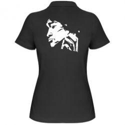 Женская футболка поло Цой