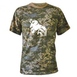 Камуфляжна футболка Цой - FatLine
