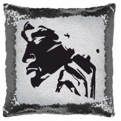Подушка-хамелеон Цой