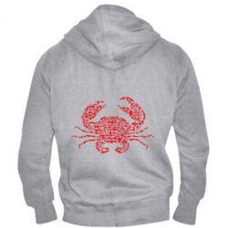 Чоловіча толстовка на блискавці Crab from transport