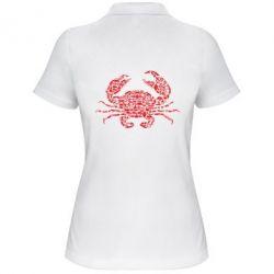 Жіноча футболка поло Crab from transport