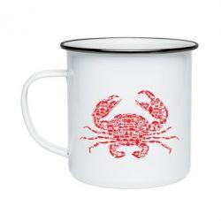 Кружка емальована Crab from transport