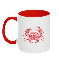 Кружка двоколірна 320ml Crab from transport