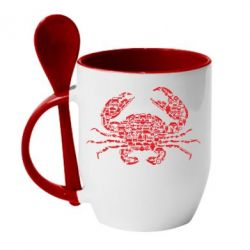 Кружка з керамічною ложкою Crab from transport