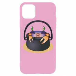 Чехол для iPhone 11 Pro Crab in a bowler hat