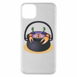 Чехол для iPhone 11 Pro Max Crab in a bowler hat