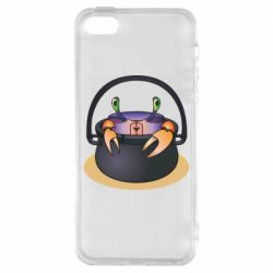 Чехол для iPhone5/5S/SE Crab in a bowler hat
