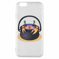 Чехол для iPhone 6/6S Crab in a bowler hat