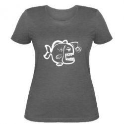 Женская футболка Crazy fish