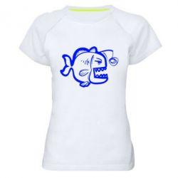 Женская спортивная футболка Crazy fish