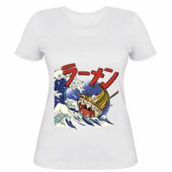Женская футболка Crazy food
