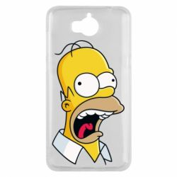 Чехол для Huawei Y5 2017 Crazy Homer! - FatLine