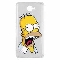 Чехол для Huawei Y7 2017 Crazy Homer! - FatLine