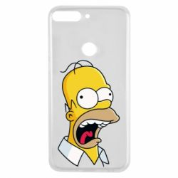 Чехол для Huawei Y7 Prime 2018 Crazy Homer! - FatLine