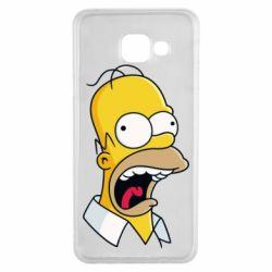 Чехол для Samsung A3 2016 Crazy Homer! - FatLine