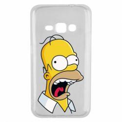Чехол для Samsung J1 2016 Crazy Homer! - FatLine