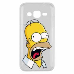 Чехол для Samsung J2 2015 Crazy Homer! - FatLine