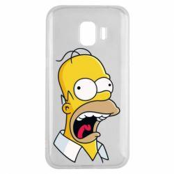 Чехол для Samsung J2 2018 Crazy Homer! - FatLine